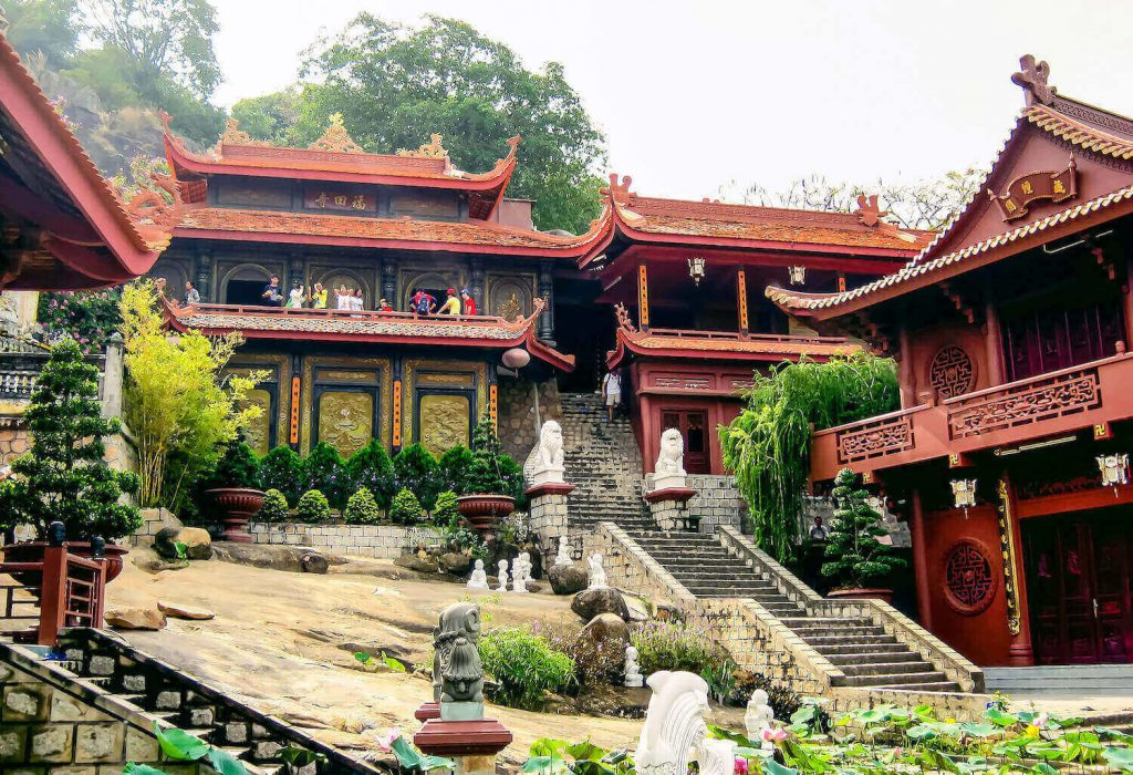 Phuoc Dien Pagoda at An Giang, one of the well-known Vietnam pagodas