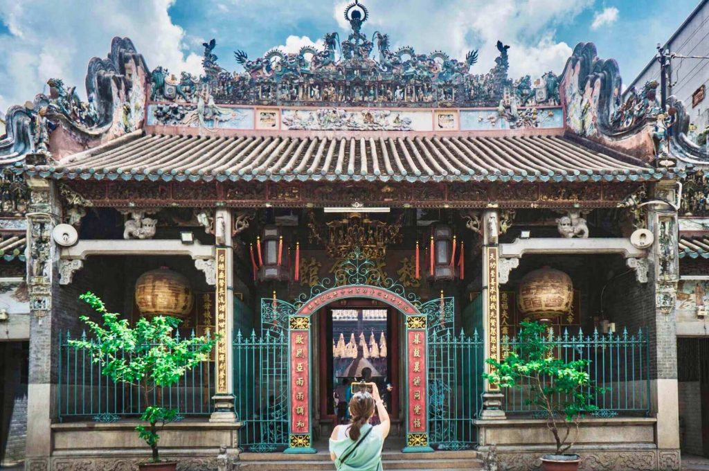 Thien Hau Temple at Ho Chi Minh City, one of the ancient Vietnam temples