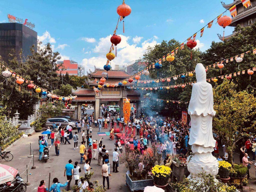 Vinh Nghiem Pagoda on Tet holiday