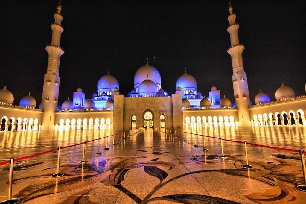 An Islamic temple in Dubai