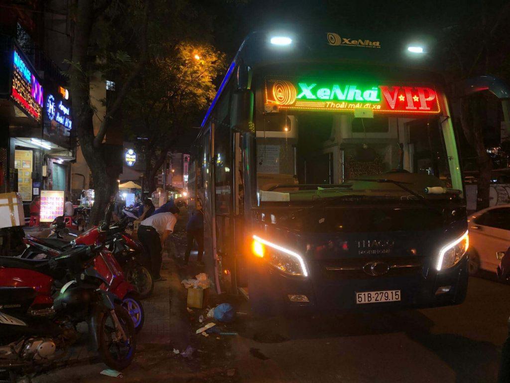 Xe Nhà, a sleeper bus in Ho Chi Minh City, Vietnam