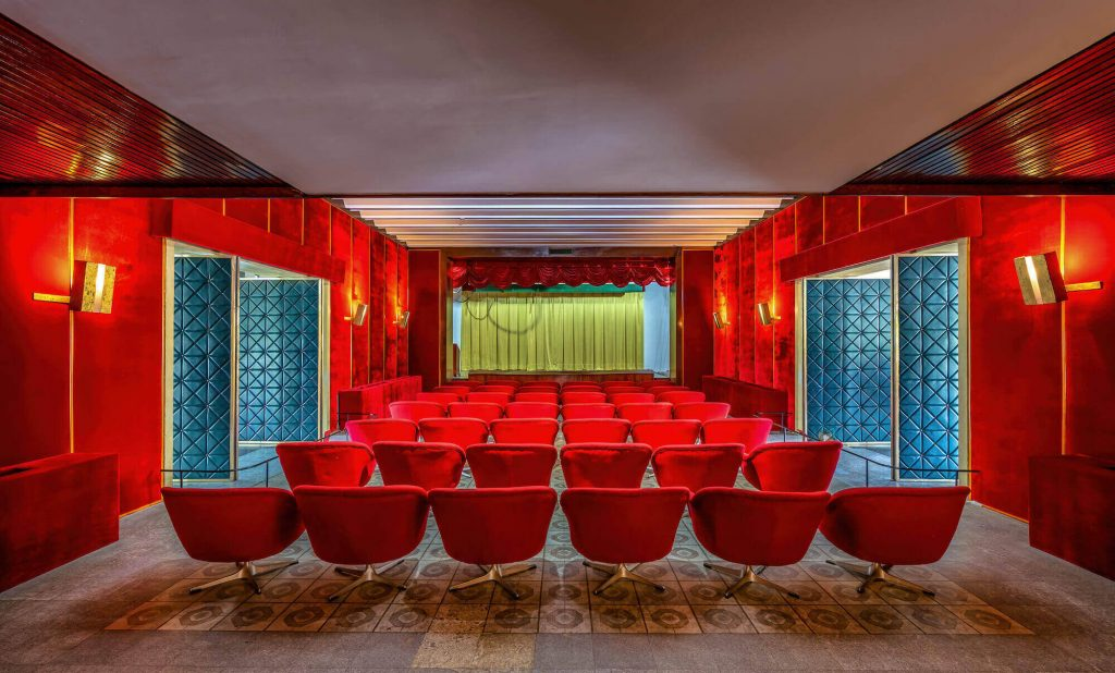 the cinema in the Reunification Palace Vietnam