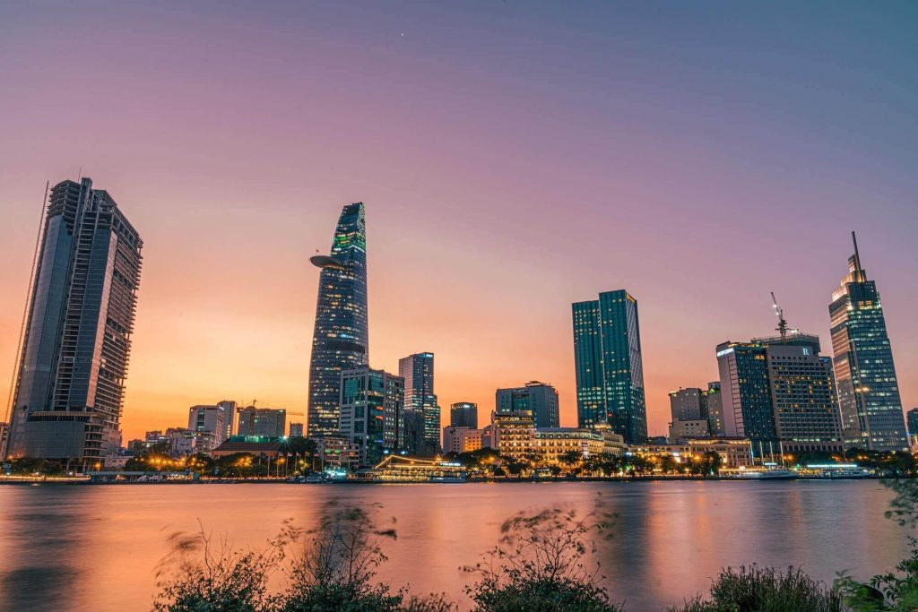 The center of Ho Chi Minh City with many international companies