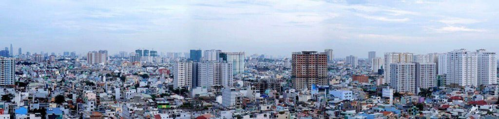 Panorama view of a corner of Ho Chi Minh City
