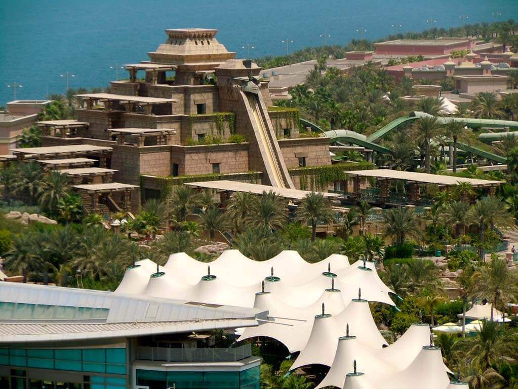 The Aquaventure Waterpark on Palm Island