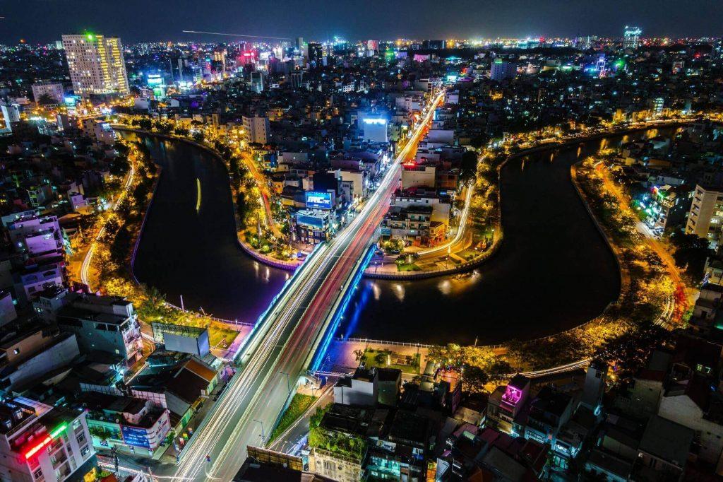 A corner of Ho Chi Minh City at night