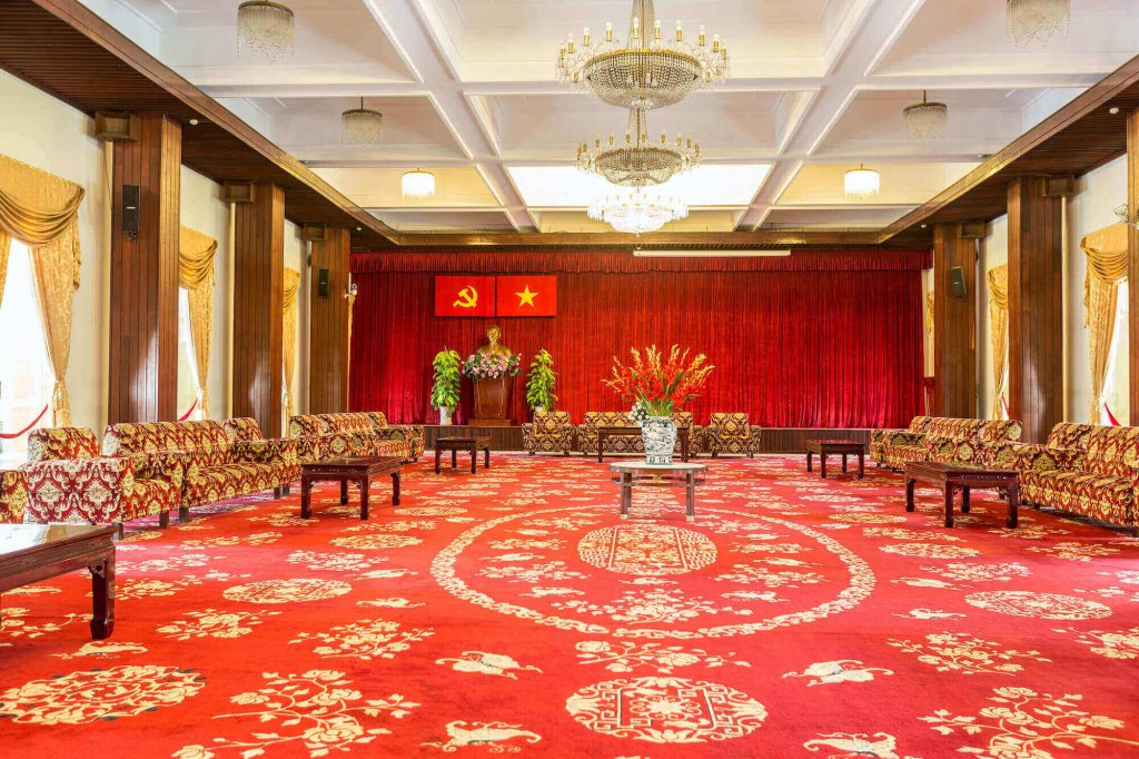 Meeting room in the Independence Palace Vietnam
