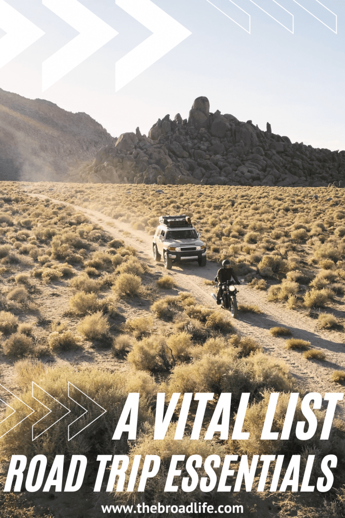 road trip essentials list - the broad life's pinterest board