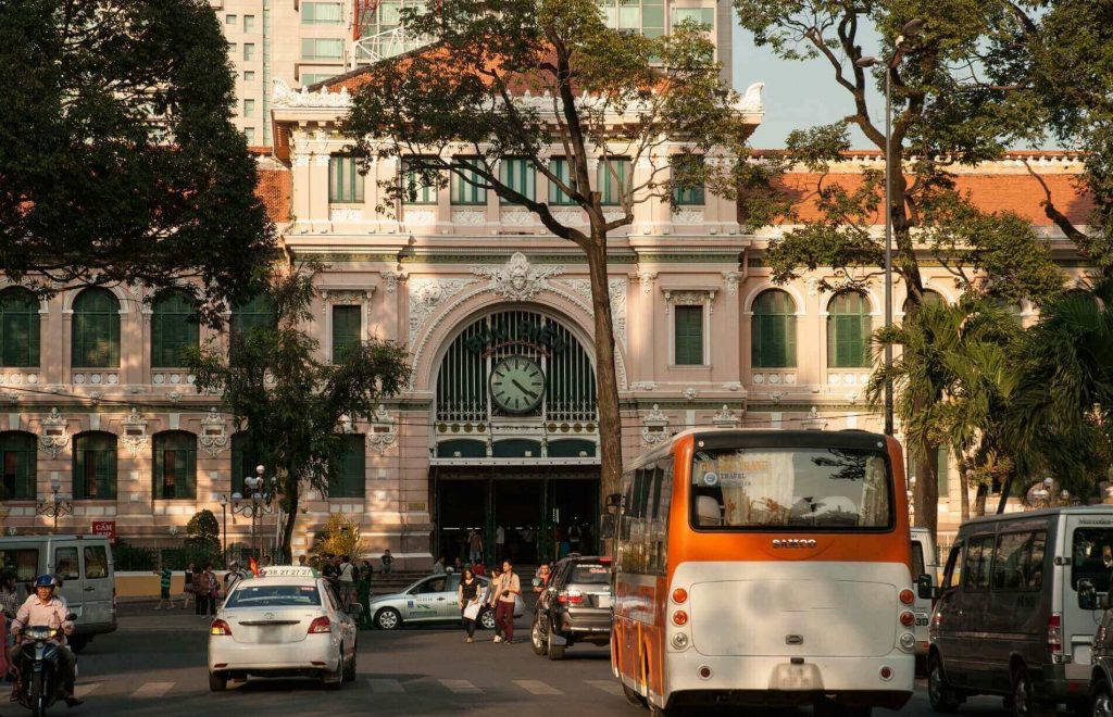 View from the front of Saigon Central Post Office