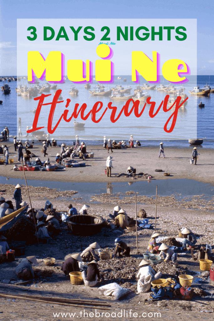3 Days 2 Nights Mui Ne Itinerary - The Broad Life's pinterest board
