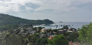 Fishing village on Cu Lao Xanh Island, Quy Nhon City, Vietnam