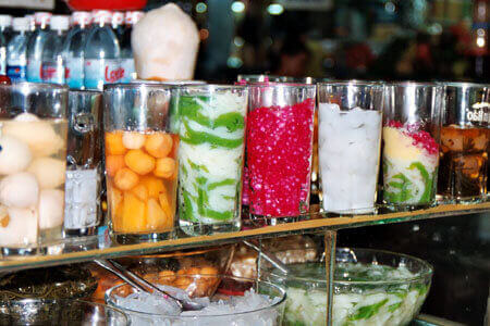 Colorful sweet soup in Ho Chi Minh City, Vietnam