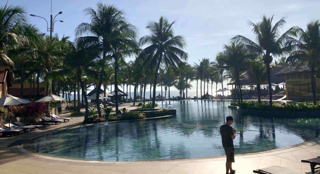 The swimming pool at Pandanus Resort, Mui Ne, Vietnam