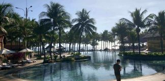 The swimming pool at Pandanus Resort, Mui Ne, Vietnam