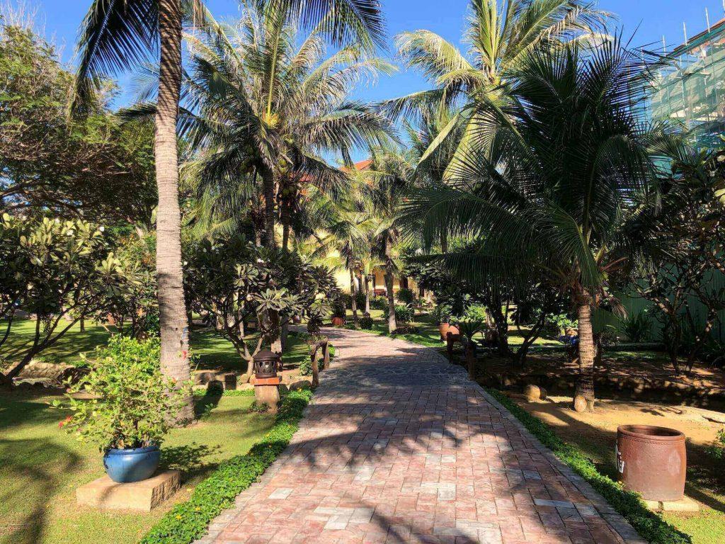 The pathway of Pandanus Resort, where I stayed in my 3 days 2 nights Mui Ne trip