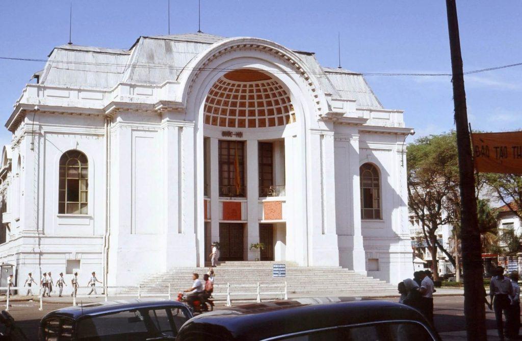The saigon opera house in 1967.