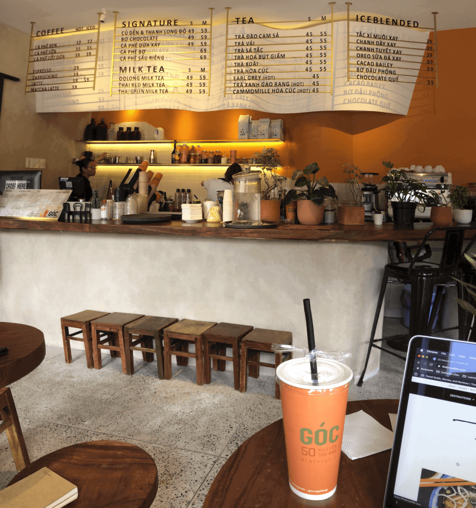 Góc is one of the newest coffee shops in Saigon