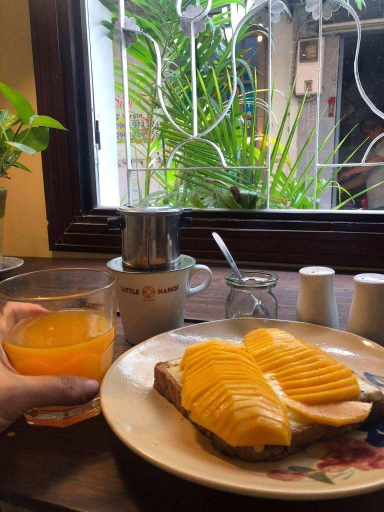 A dish at Little Ha Noi Egg Coffee