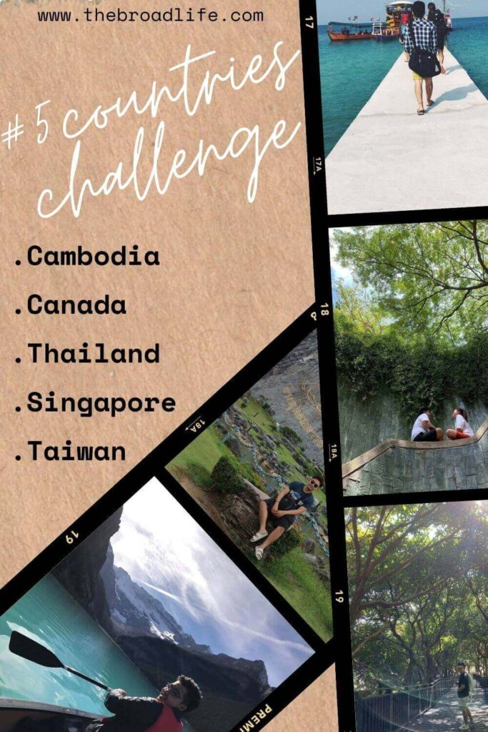 the broad life's pinterest board of 5 countries challenge