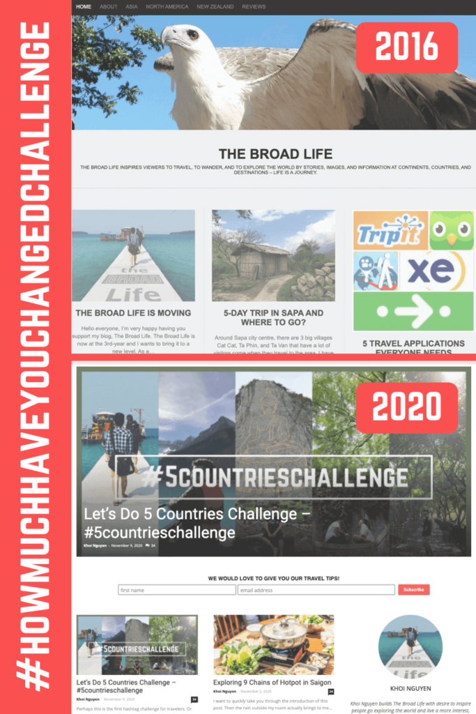 How much have you changed challenge - The Broad Life's pinterest board