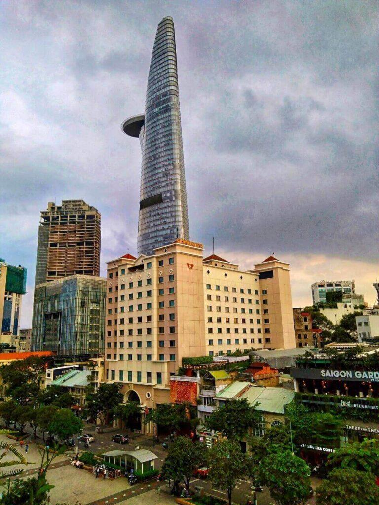 Bitexco view from Saigon Ơi cafe