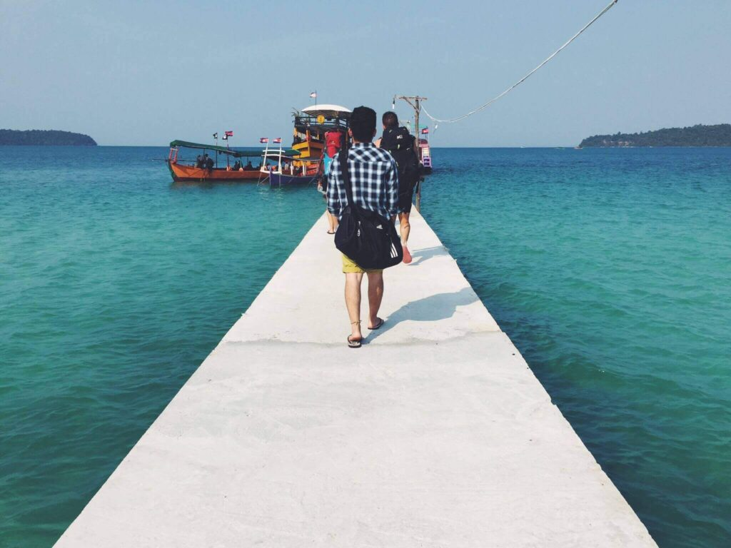 Pier at Nature Beach resort, koh rong island in my 5 countries challenge