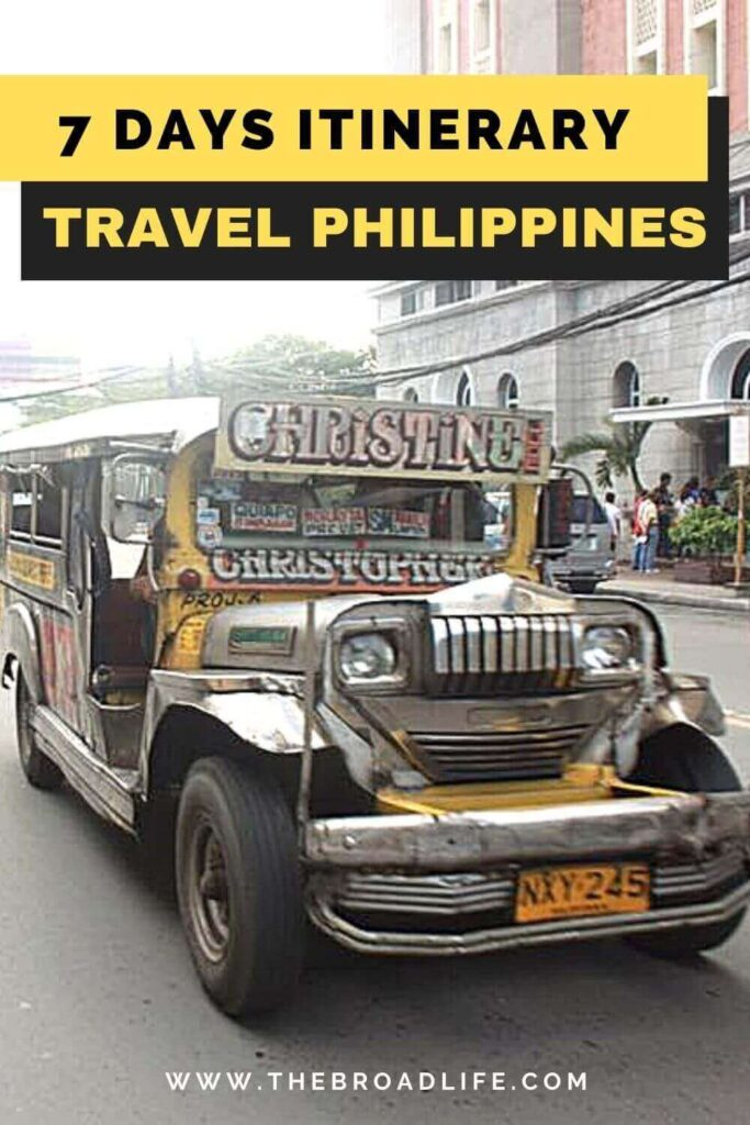 Philippines 7 days itinerary - The Broad Life's pinterest board