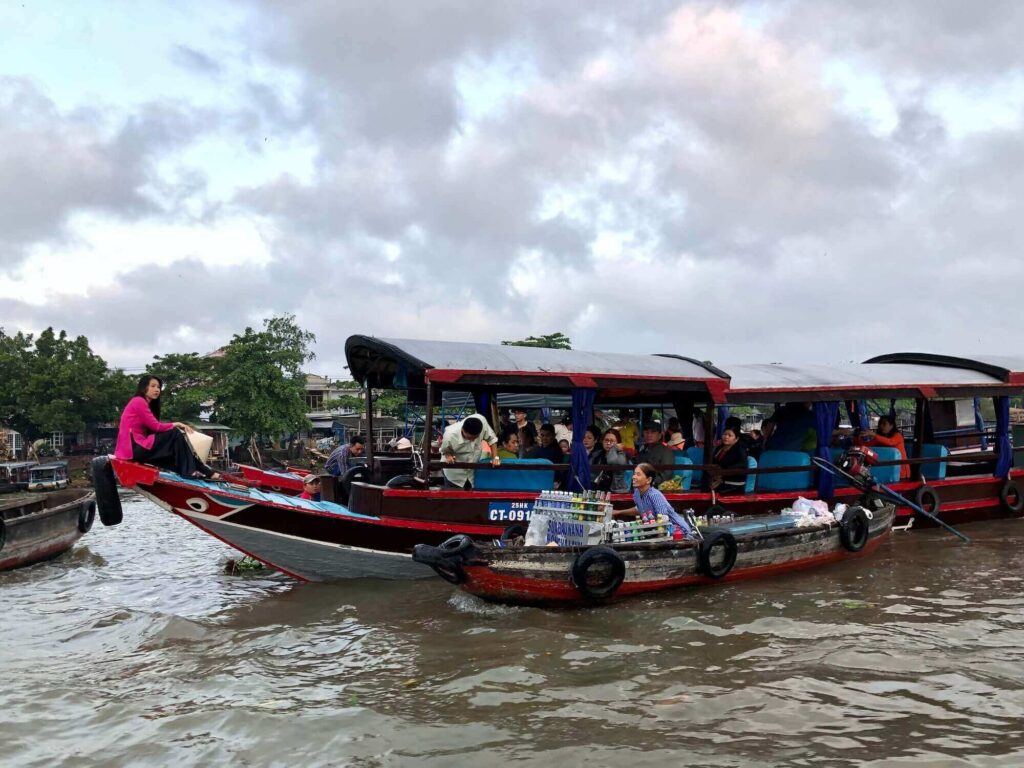 Floating market at Ninh Kieu, Can Tho - one of my travel destinations in 2020