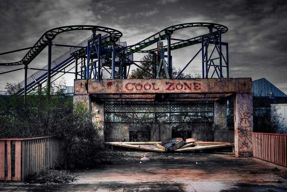 amusement park six flags new orleans, one of the abandoned places across the world