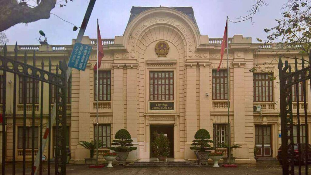 The exterior of Vietnam National Museum of History