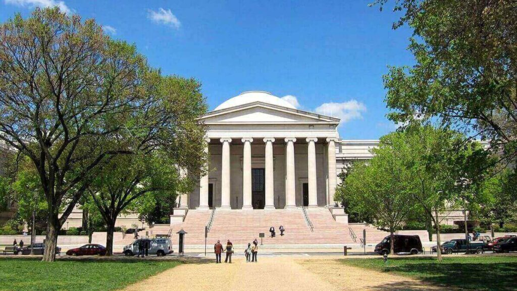The West building of National Gellery of Art in Washington