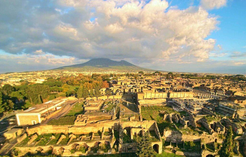 The abandoned Roman city of Pompeii