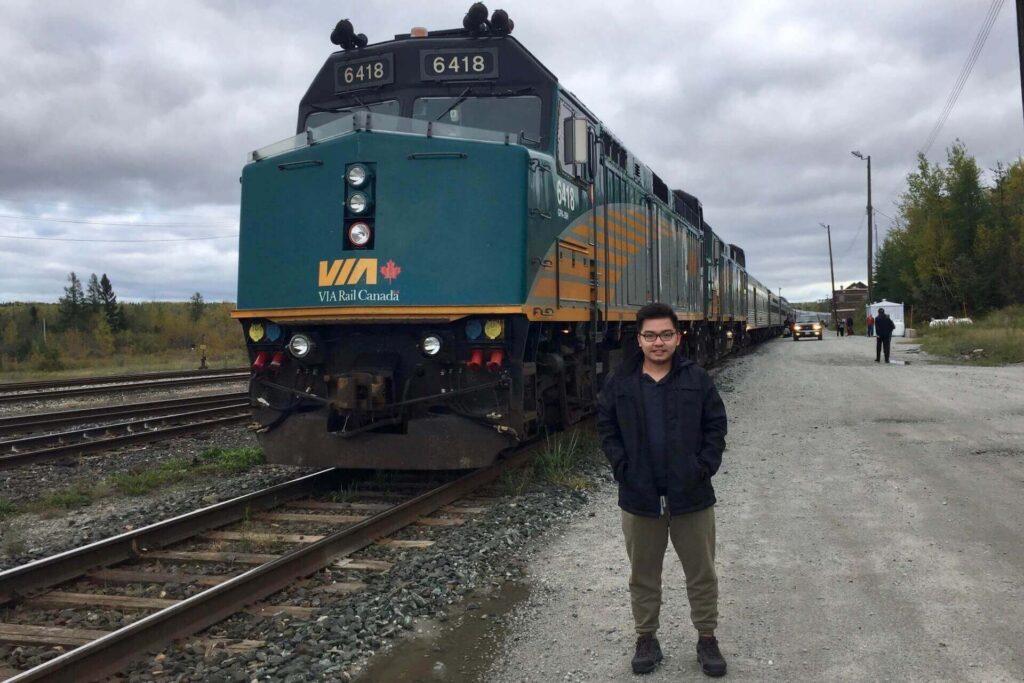 VIA train took me from Toronto to Winnipeg, Canada