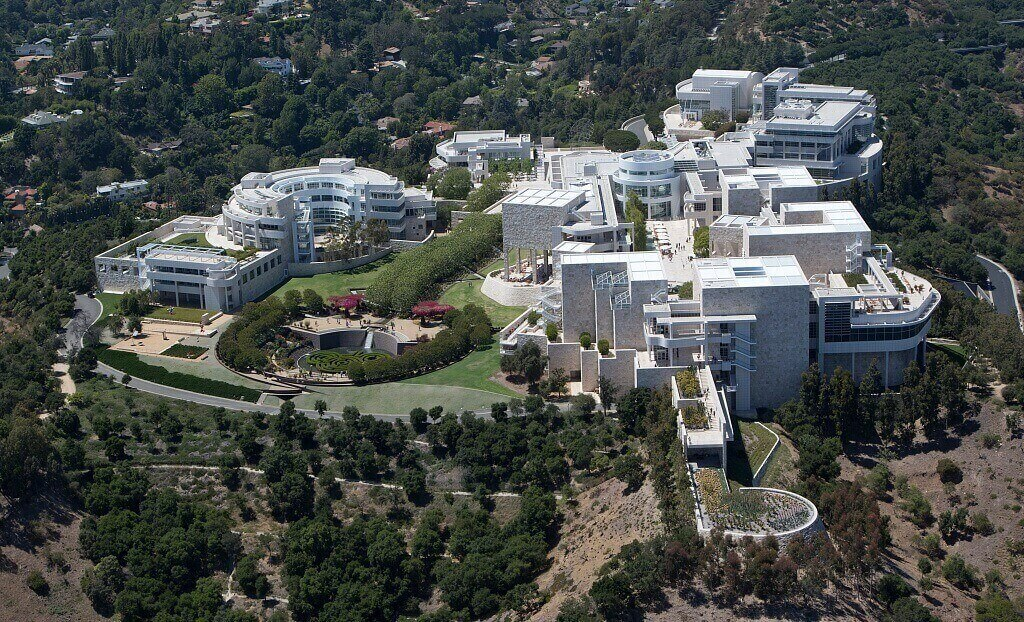 View from the above of J. Paul Getty Museum