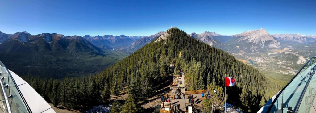 Banff Gondola and the Rocky Mountains in Banff National Park