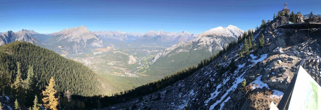 View of Rocky Mountains from Banff Gondola, Banff National Park