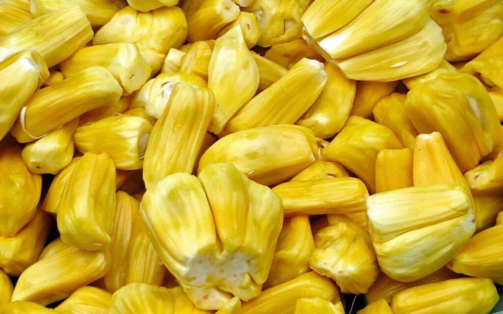 Yellow jackfruit flesh