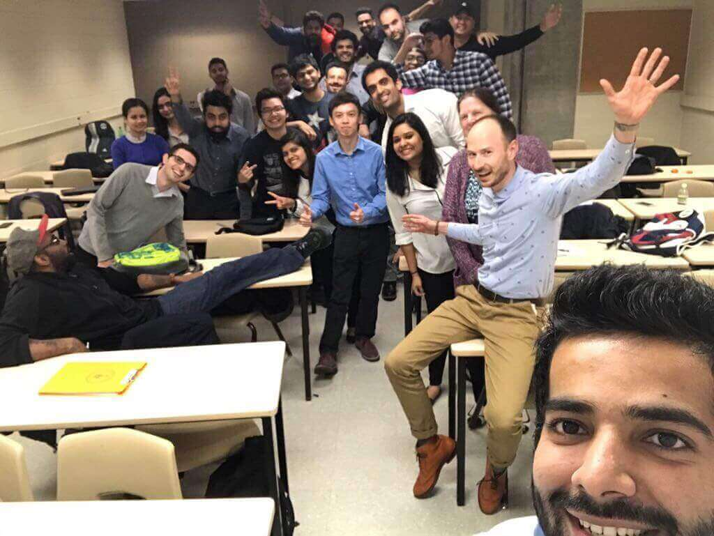 students in a marketing class at George Brown College