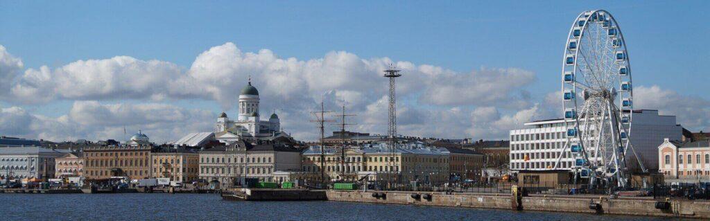 The capital city Helsinki, Finland