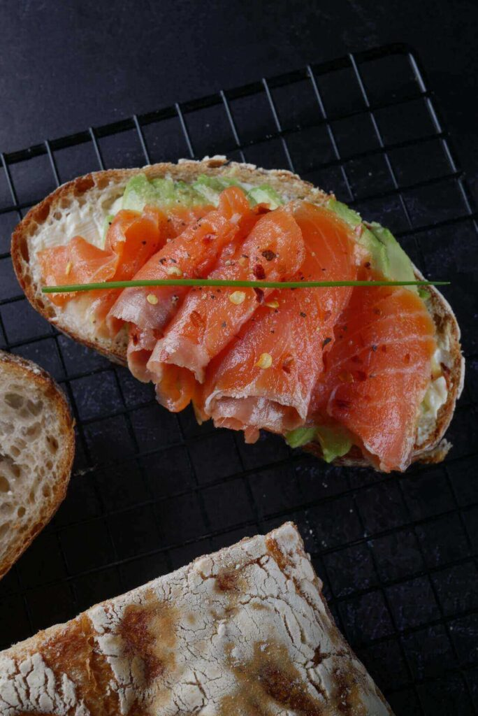 smoked salmon and rye bread finland food