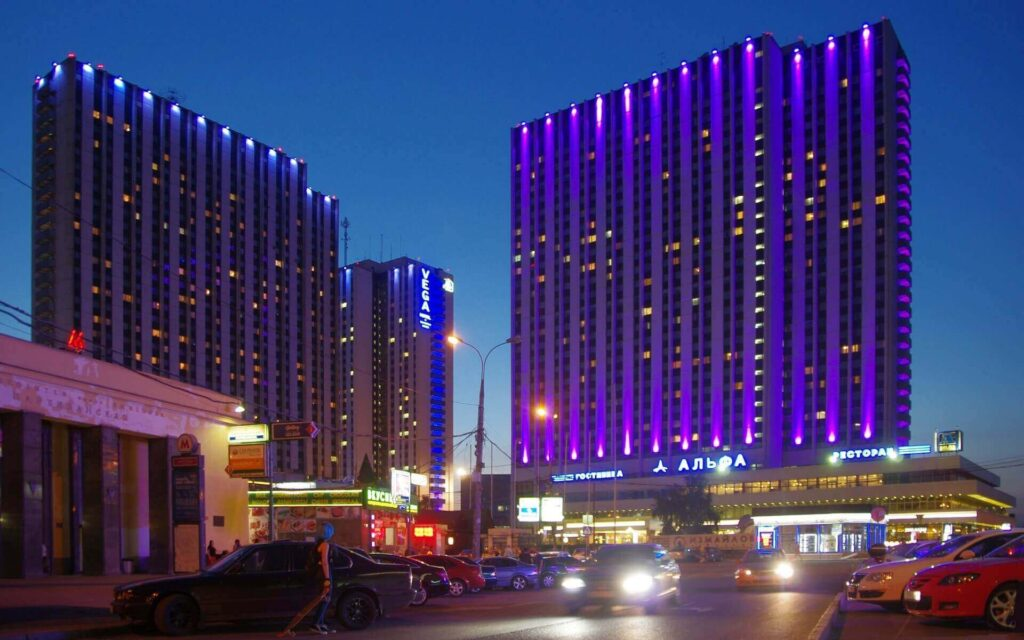 Izmalovo is the biggest hotel in Russia with 4 buildings