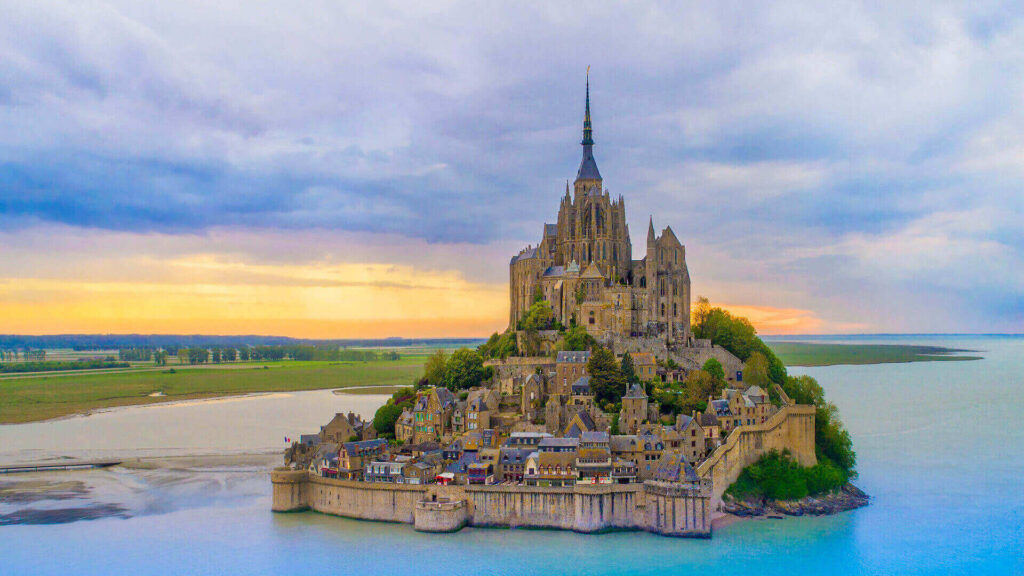 Mont Saint Michel in Normandy, France - one of the special castles around the world