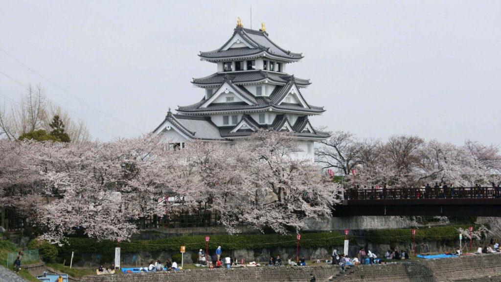 Sunomata Castle in Gifu, Japan