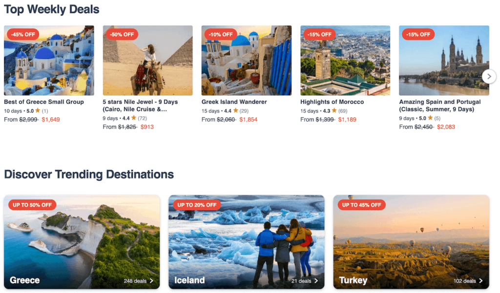 Travel packages on TourRadar