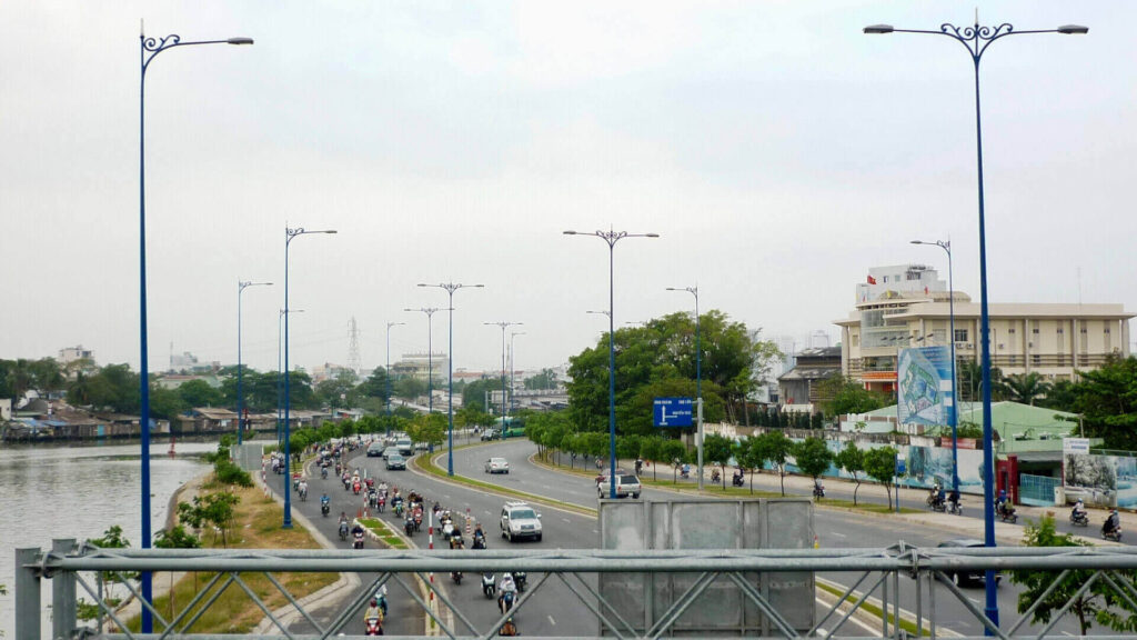 a part of east west highway saigon vietnam