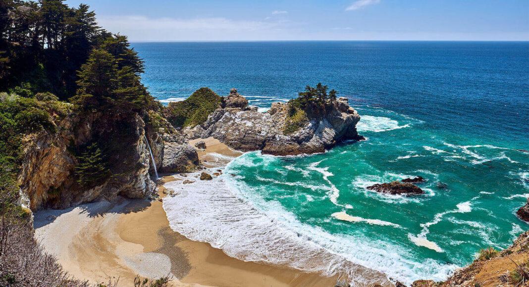 one of white sand beaches in california usa